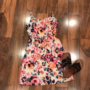 Floral mini dress forever 21 size 8